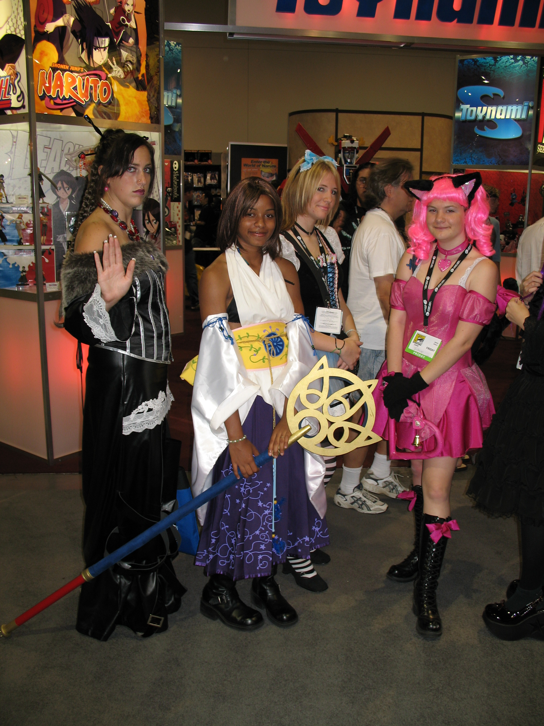 Final Fantasy X cosplay, and a catgirl