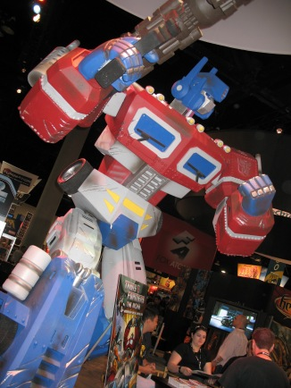 Optimus Prime at the Hasbro Booth