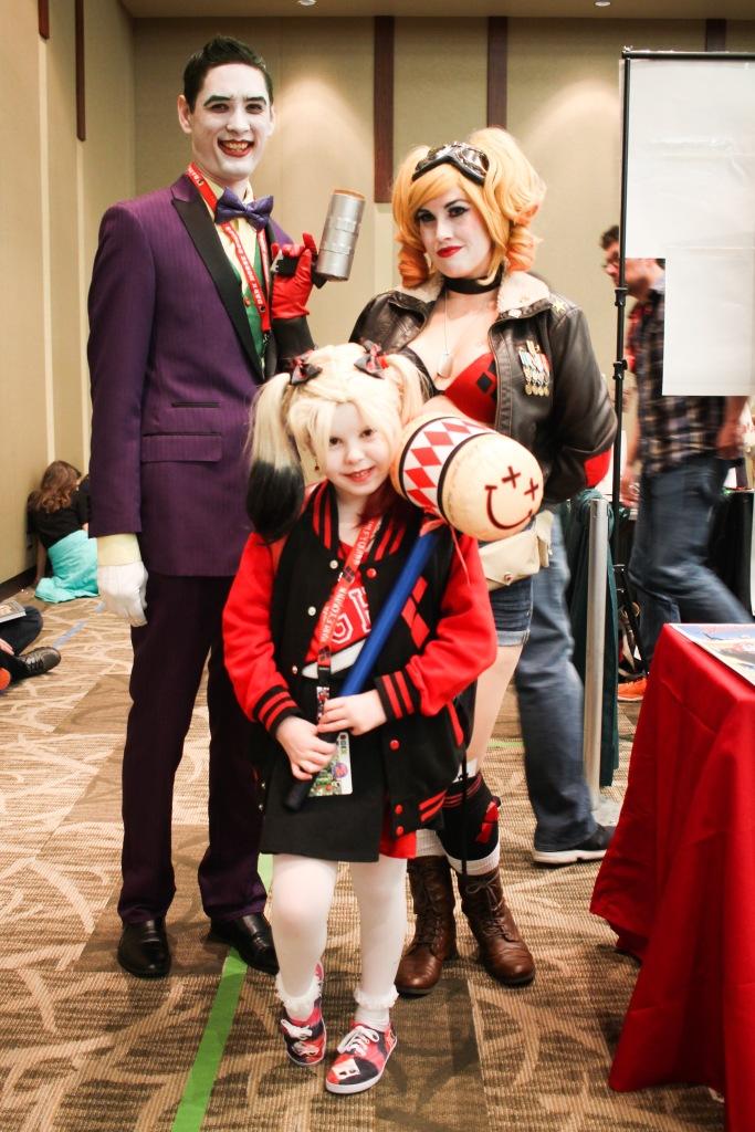 Harley Quinn and Joker family