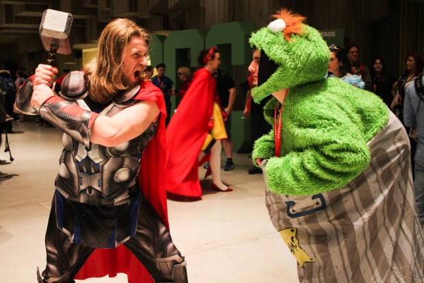 Thor vs. Oscar the Grouch